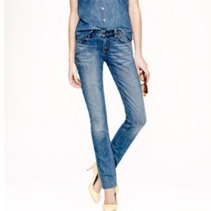 J Crew Matchstick stretch skinny light wash Jeans